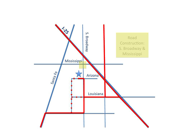 Construction routes to Denver Paw School